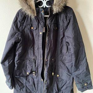 Jackets & Blazers - Women's faux hooded jacket